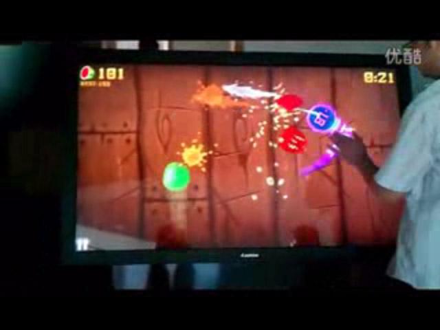 水果忍者触摸展示-广州磐众智能科技有限公司