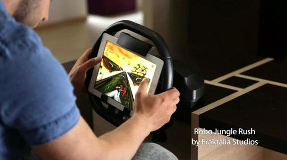 玩起来更爽 iPad赛车游戏方向盘KOLOS来了-广州磐众智能科技有限公司