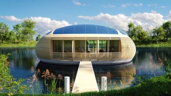 可回收材料制成太阳能漂浮屋:低碳节能环保-广州磐众智能科技有限公司