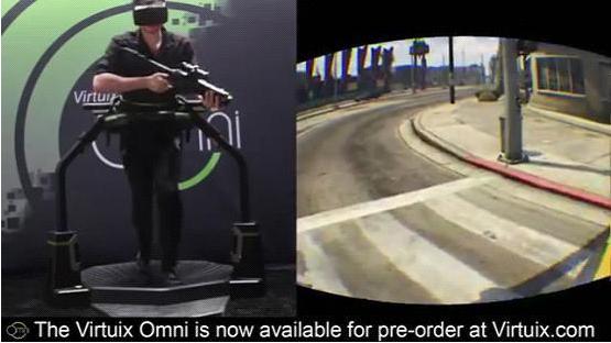 用虚拟现实头盔和跑步机玩侠盗猎车手-广州磐众智能科技有限公司