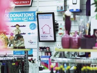 150个老年英国慈善商店部署数字标牌-广州磐众智能科技有限公司