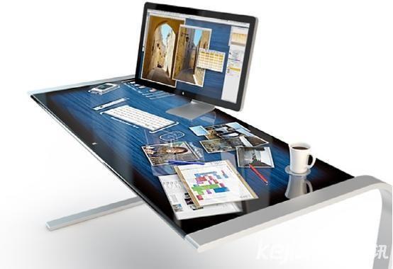 智能书桌面世:整个桌面都是触控屏-广州磐众智能科技有限公司