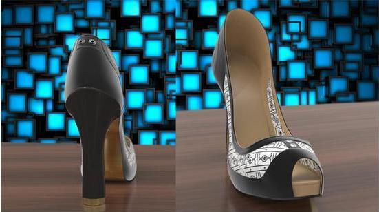 智能高跟鞋:内置水墨屏幕可随意改变鞋身图案--广州磐众智能科技有限公司