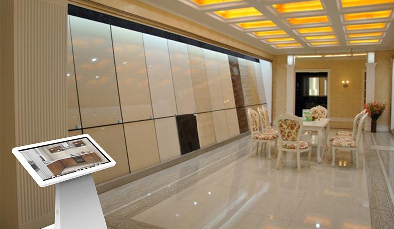 瓷砖触摸导购方案--广州磐众智能科技有限公司